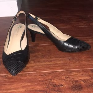 NWOT Naturalizer Kitten Heels Black Leather Shoes